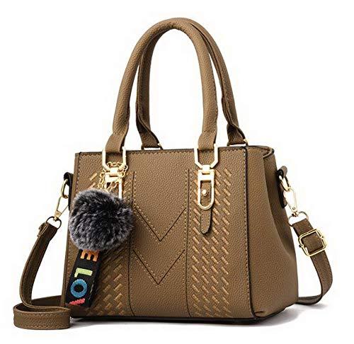 Tote Borse Dacron GMMBA181898 Donna Scuro Grigio a Style Moda AgooLar Shopping Cachi tracolla qt4AfA1