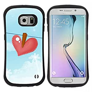 "Hypernova Slim Fit Dual Barniz Protector Caso Case Funda Para Samsung Galaxy S6 EDGE [Azul Heartbreak Dibujo Sad""]"