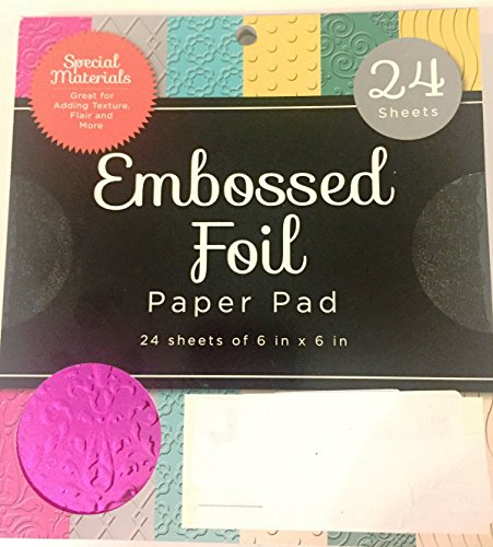 American Crafts DCWV 6quot x 6quot Foiled Cardstock Stack  Assorted Colors  Scrapbooking Accessory and Decoration  24 Sheets