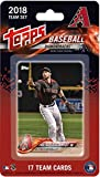 2018 Topps Baseball Factory Arizona Diamondbacks Team Set of 17 Cards which includes: Paul Goldschmidt(#AD-1), David Peralta(#AD-2), Chris Owings(#AD-3), Brandon Drury(#AD-4), Jeff Mathis(#AD-5), Robbie Ray(#AD-6), Zack Godley(#AD-7), Jake Lamb(#AD-8), J.D. Martinez(#AD-9), Nick Ahmed(#AD-10), Zack Greinke(#AD-11), Shelby Miller(#AD-12), A.J. Pollock(#AD-13), Taijuan Walker(#AD-14), Patrick Corbin(#AD-15), Yasmany Tomas(#AD-16), Archie Bradley(#AD-17)