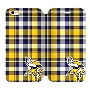 RAROFU New Arrival Premium Minnesota Vikings Custom Cover Case for iPhone6 Plus 5.5
