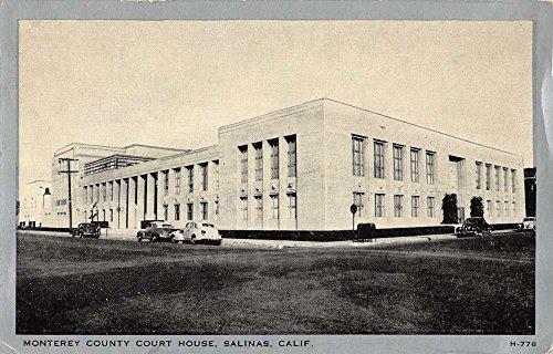 Salinas California Monterey Court House Street View Antique Postcard K32667