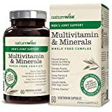 NatureWise Men's Whole Food Multivitamin with Joint Support | Vitamins, Minerals, Organic Whole Foods (⬇ Watch Product Video in Images) + UC-II Collagen to Improve Joint Mobility & Comfort | 60 Ct For Sale