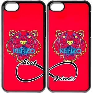 JiHuaiGu (TM) iPhone 5C funda Negro BFF mejores amigos-KENZO personalizado temático iPhone 5C funda OJ3656