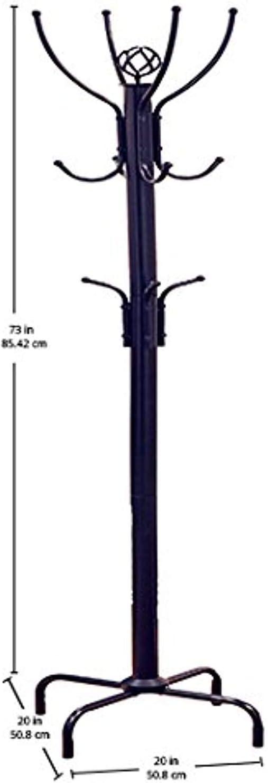 Frenchi Home Furnishing Coat Rack 73 H 1-Pack {Black}
