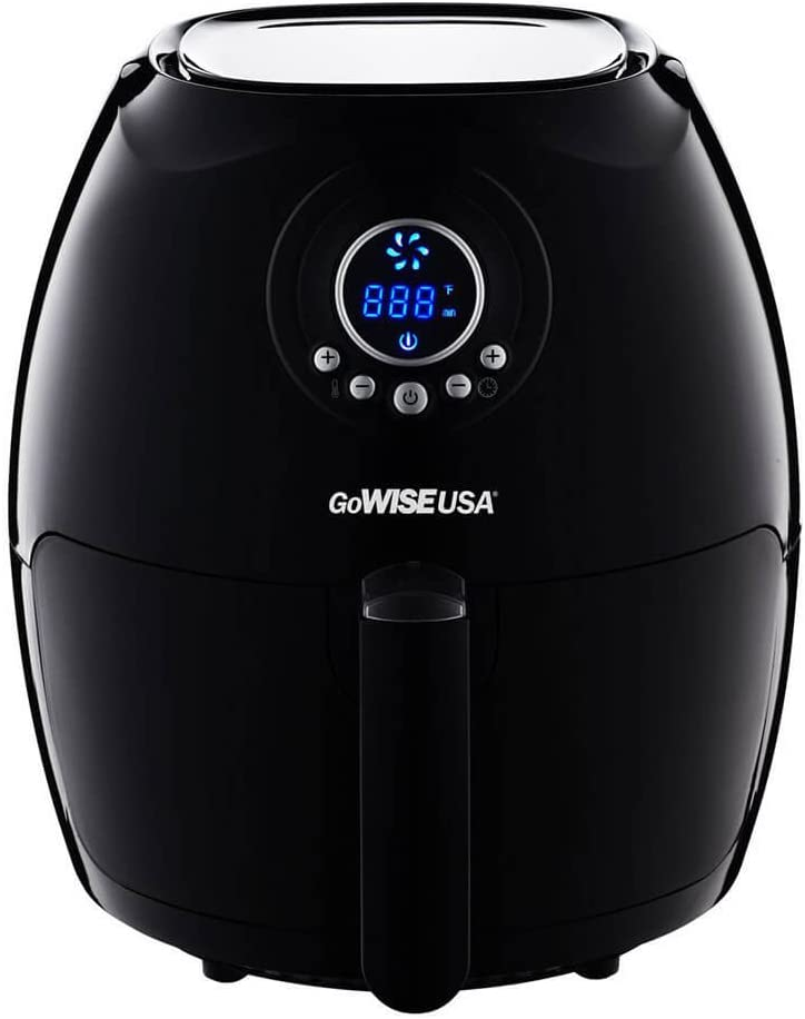 """GoWISE USA Digital Air Fryer - The Best 50 Recipes. Best Selling Small Air Fryers: """"6 Tips on Healthier Frying Appliances"""""""