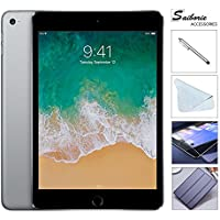Apple iPad Mini 4 128GB W/Saiborie 49.99 Value Accessories, 7.9 Retina Display, 2GB RAM, Dual-Core A8 Chip, Quad-Core Graphics, Wi-Fi, MIMO, Bluetooth, Apple iOS 9 (Space Gray)