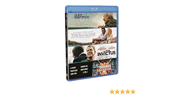 Pack: Golpe De Efecto + The Blind Side + Un Domingo Cualquiera + Invictus Blu-ray: Amazon.es: Clint Eastwood, Chelcie Ross, Raymond Anthony Thomas, Ed Lauter, Amy Adams, Sandra Bullock, Tim McGraw, Quinton
