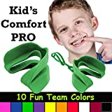 Kid's Comfort PRO Youth Double Sports Mouth Guard Wear with or Without Braces (Green)