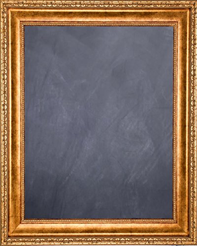 Framed Chalkboard 24'' x 36'' - with Antique Gold Finish Frame by Art Oyster