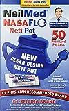 NeilMed NasaFlo Unbreakable Neti Pot with 50