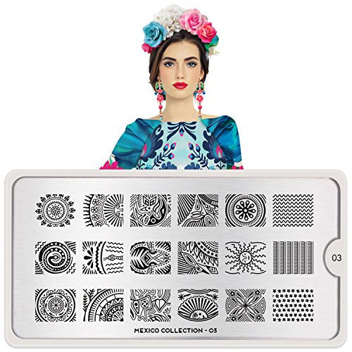 MoYou-London Nail Stamping Plate Mexico Collection 03 Shipping within 24h US STOCK