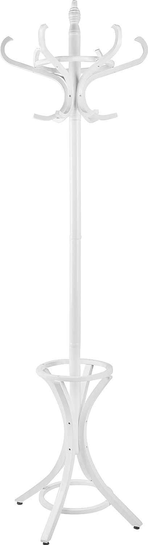Headbourne Wooden Floor Hat Coat Umbrella Stand, White