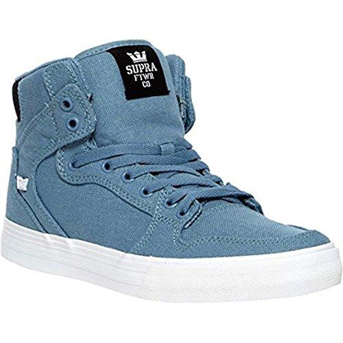 Supra Mens Vaider Shoes Size 10 Slate / Black / White