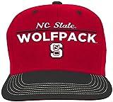NCAA North Carolina State Wolfpack Youth Boys Retro Bar Script Flatbrim Snapback Hat, Red, Youth One Size
