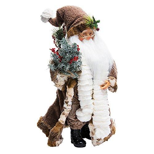 Kurt Adler Jacqueline Kent Woodland Standing Santa, 18-Inch ()