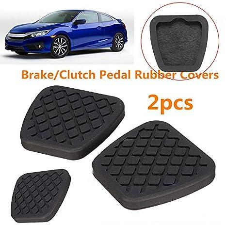 Allfuu 2X Brake Clutch Pedal Pad Rubber Cover For Honda Civic Accord CR-V Prelude Acura