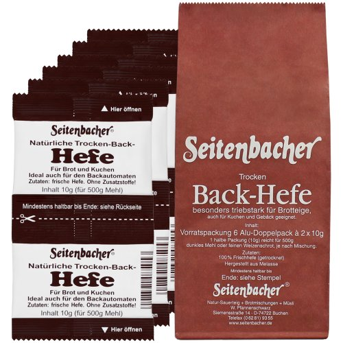 Seitenbacher Hefe Vorratspack 6x20g, 3er Pack (3 x 120 g)