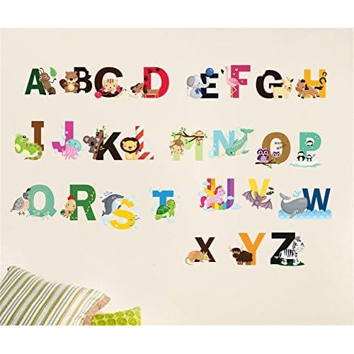 good Nursery Educational Wall Decals - Animal Alphabet Baby ...