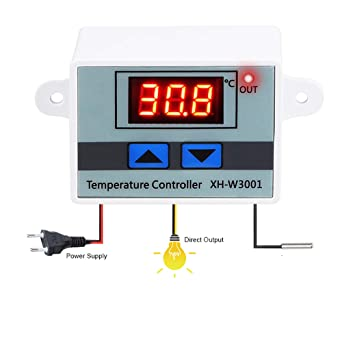 LED Digital Heat and Cooling Thermostat Controller Thermostat Meter 24V