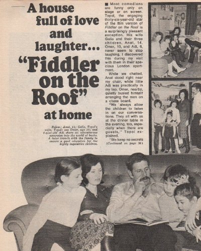 Topal Fiddler on the Roof Clipping Magazine Photo orig 5pg 8x10 L7361