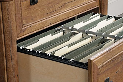 2-Drawer Lateral Filing Cabinet Drawers With Full Sized Extations Slides Hold Letter Legal or European Size Hanging Files in Vintage Oak Color by AVA Furniture (Image #4)'