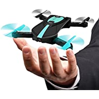 HIOTECH Drone Mini Quadcopter WiFi FPV Quadcopter Foldable Selfie Altitude Hold RC Drone with Camera Folding FPV Pocket Drone With 2.0MP HD Wifi FPV Camera
