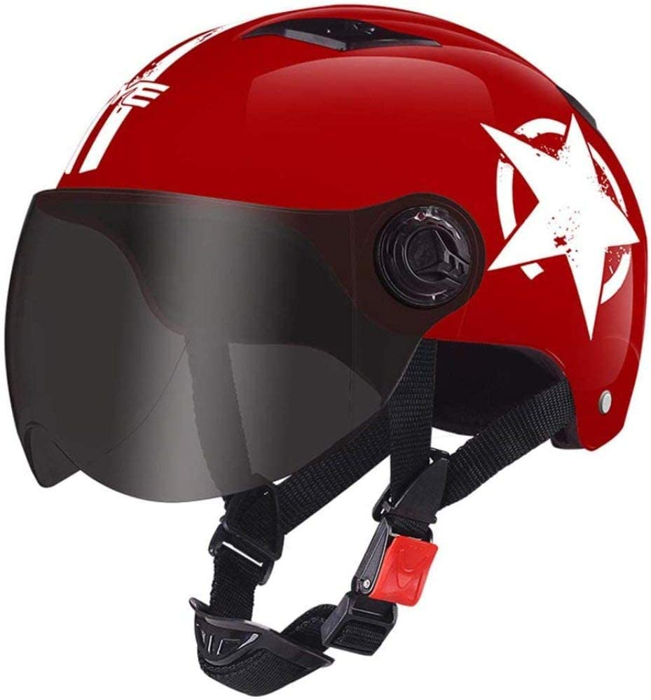 HengYue Motorradhelm Vollgesichtsroller Offroad-Motorrad-Sturzhelm Fahren,A