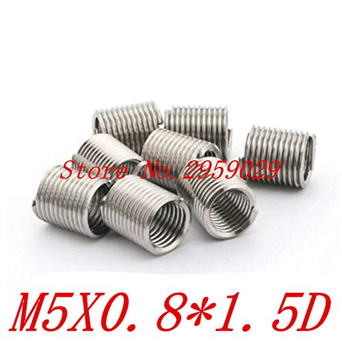 Ochoos 100pcs M51.5D m5 Wire Thread Insert Stainless Steel m5 Screw Bushing,Wire Screw Sleeve,Thread Repair