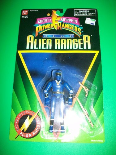 Power Rangers 1995 Blue Alien Ranger Action Figure MOSC MOC NEW