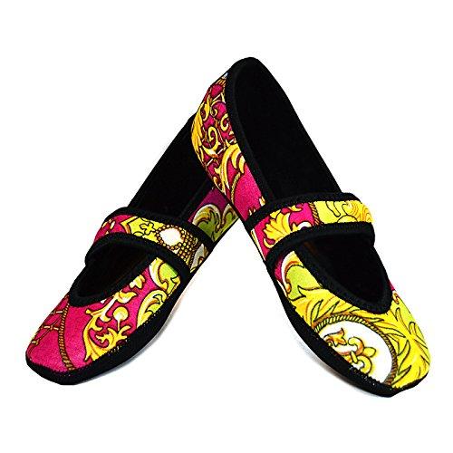 Nufoot Pink Pour Betsy Femme En Baroque Lou Néoprène Chaussures Pantoufle 84w6r8