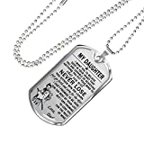 EL Gifts Bushido Pendant - To My Daughter Necklace - Daughter & Samurai Warrior dog tag chain - Japan Father & Daughter Necklace - Amazing Gifts From Dad on Birthday, Graduation - jewelry for girls