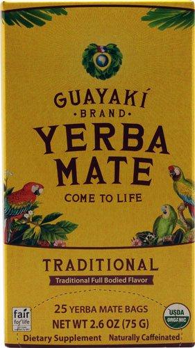 Guayaki Organic Traditional Yerba Mate -- 25 Tea Bags
