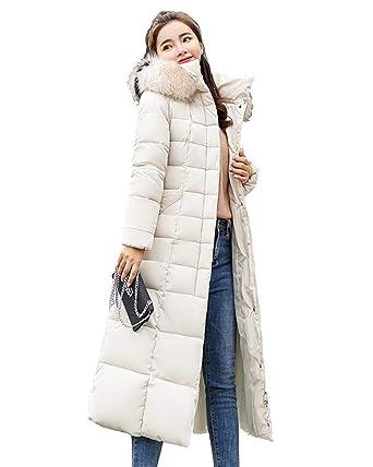 finest selection d4770 88650 Yanlian Giacca Donna Elegante Lungo Piumino Invernale Giubbotto Taglie  Forti Giacche Autunno Inverno Pelliccia Cappuccio Giacche Cappotto