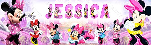 Personalized / Customized Minnie Mouse #2 Name Poster Wall Decor Door Birthday Art Banner ()