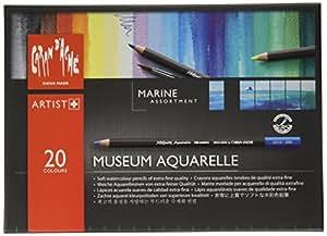 Lápices Caran D'Ache Museo Aquarelle Marinos - Lápices de colores (paquete de 24)