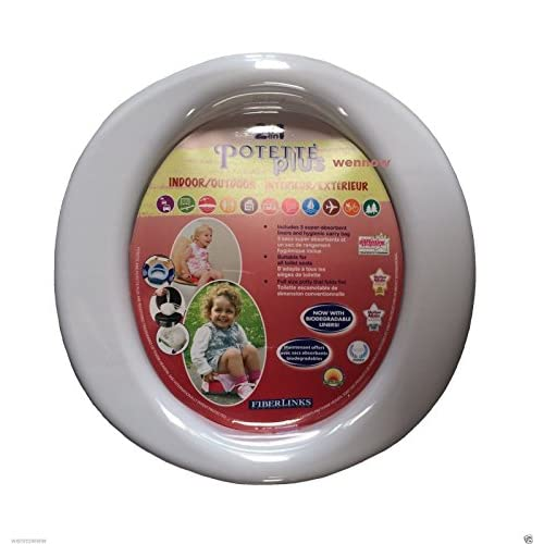 wennow Blue Potette Plus Travel/Portable/Holiday Trainer Potty and Toilet Seat high-quality
