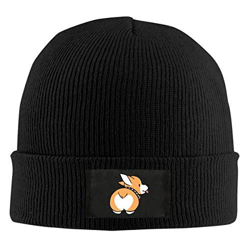 - Corgi Butt Winter Beanie Hat Knit Skull Cap for Men & Women