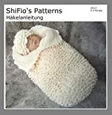 Häkelanleitung - CP127 - Schlafsack, Pucksack für Babys mit Rüschen