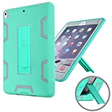 iPad Pro 10.5 Case, KAMII Shockproof Heavy Duty [Drop Protection] 3in1 Rugged Hybrid