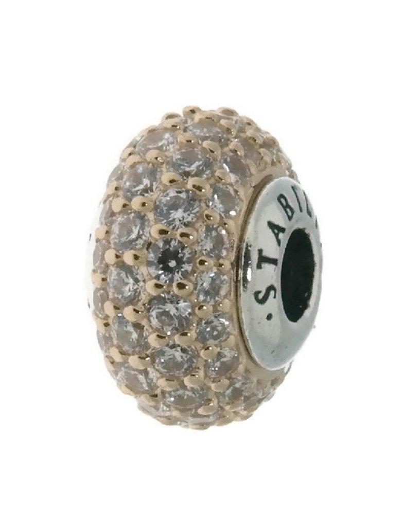 PANDORA ESSENCE STABILITY Charm, 14K Gold & Clear CZ 796309CZ