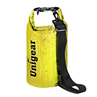 Dry Bag Sack, Waterproof Floating Dry Gear Bags for Boating, Kayaking, Fishing, Rafting, Swimming, Camping and Snowboarding (Yellow, 30L)