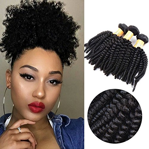 Top Hair Unprocessed Virgin Brazilian Kinky Curly Human Hair Extensions Natural Color 100g/Bundle 8inches - Human Hair Top