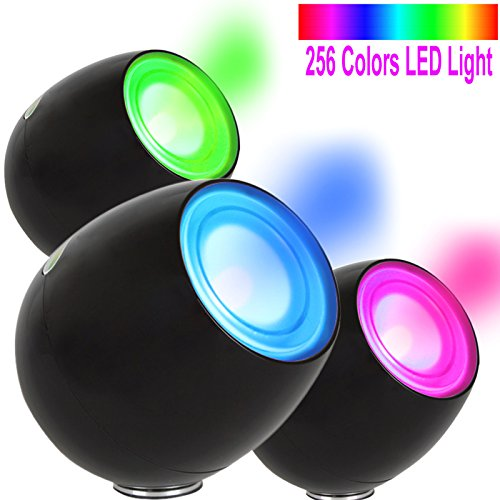 OriGlam® New Touching Schalter, Farbe Bar Design, 256 Farben-Licht-Lampe Atmosphäre Licht mit eingebautem Akku Verwendet als Schreibtischlampe Ambience Licht für Dekoration Weihnachts Yoga (schwarz)
