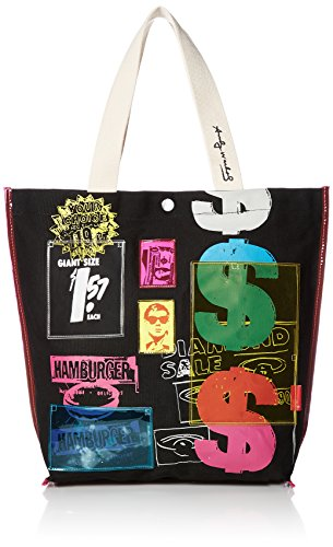 [Rutoto] canvas tote bag Tall pocket Andy Warhol 4487 Vertical tote bag Tall 448702 02 BLACK