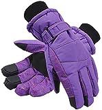 ANDORRA Women's Night Galaxy Thinsulate Waterproof Touchscreen Snow Ski Gloves,M,Purple