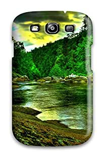 HamJuzm1634VmsWt Case Cover Quiet Green Lakes Galaxy S3 Protective Case
