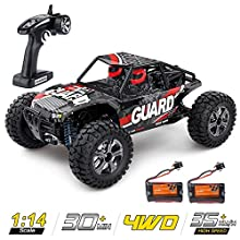 1:14 Scale Large RC Cars High Speed,Zuhafa,35+ kmh 4WD 2.4GHz,Remote Control Truck Toys for Kids and Adults - 2 Batteries for 30+ Min Play Car Gifts for Boys