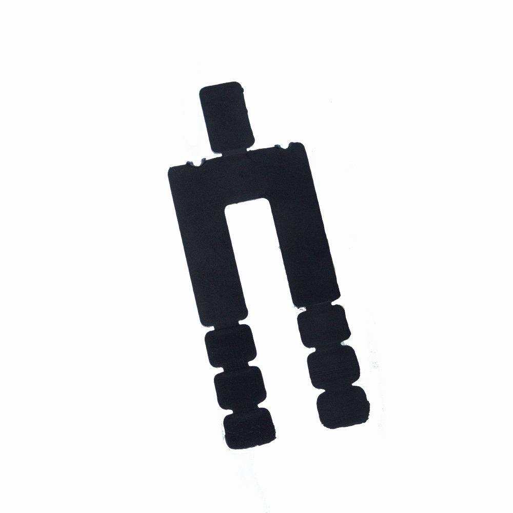 Black Plastic Shim, Size: 3⅝'' x 1¾ x 1/16''. Pack of 160 pcs.