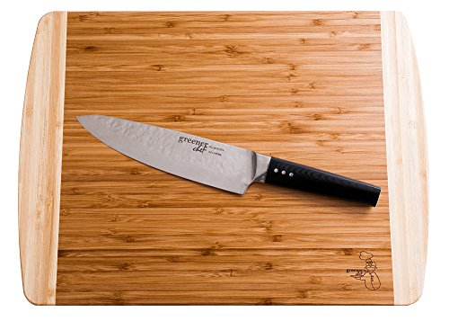 Extra Large Organic Bamboo Cutting Board for Kitchen - NEW CRACK-FREE DESIGN - Best Wood Chopping Boards w/Juice Groove for Carving Meat, Wooden Butcher Block for Vegetables & Serving Tray for Cheese by Greener Chef (Image #6)